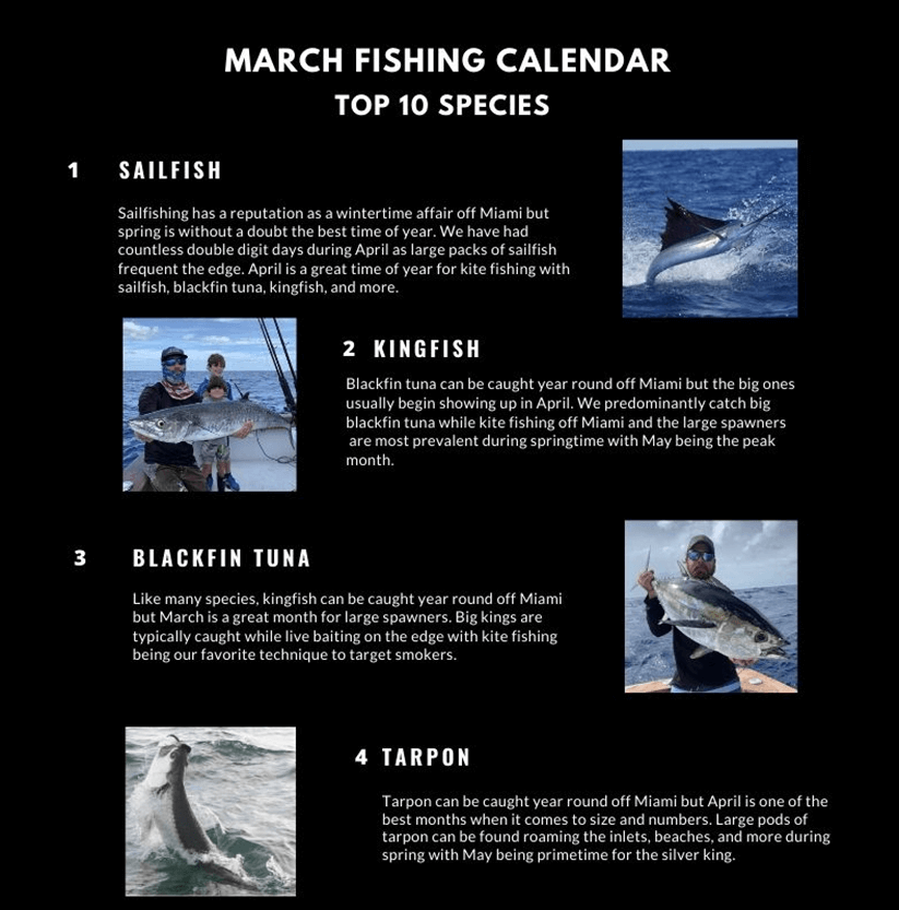 March Fishing Calendar