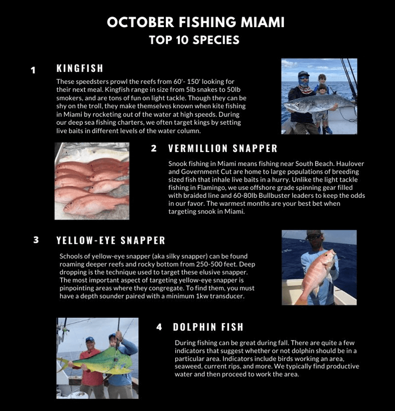 October Fishing Miami Calendar